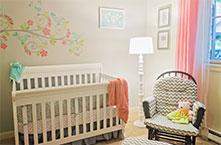 Baby Girl's Nursery, Issaquah, WA